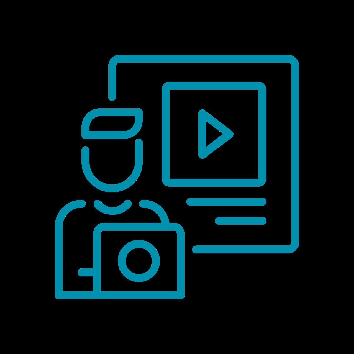 Filmproduktion, Videomarketing Icon